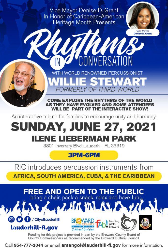 Rhythms in Conversation Ilene Lierbaman Park Flyer