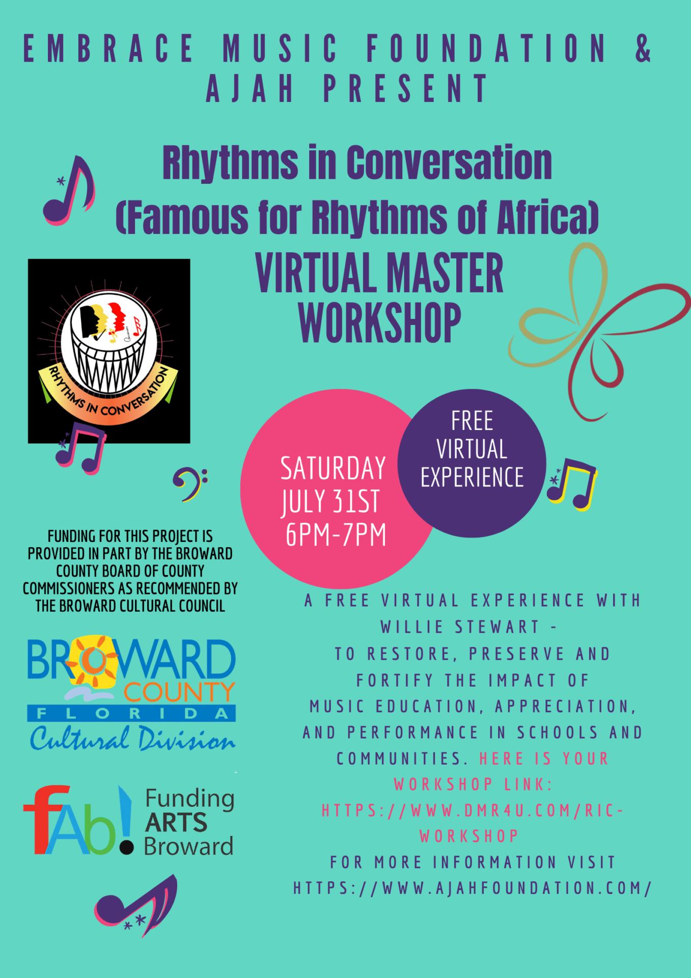 Rhythms in Convo Virtual Flyer
